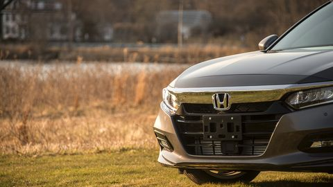 The redesigned Accord serves up 252 hp courtesy of a turbocharged 2.0-liter inline-four.