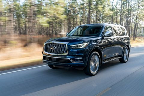 The 2018 Infiniti QX80 is available with either 20- or 22-inch alloy wheels.