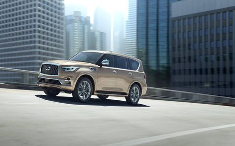 The 2018 Infiniti QX80 looks sharper and more stylish than previous models.