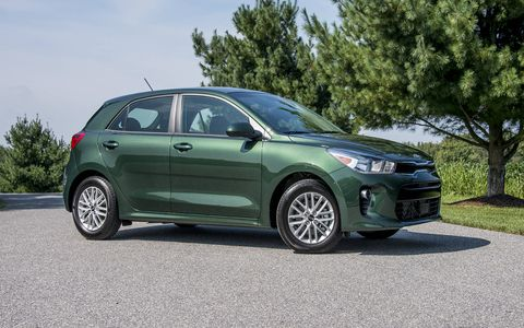 The fourth-generation 2018 Kia Rio hatch offers a fresh new design and a 130-hp engine, with a choice of a six-speed manual or six-speed automatic.