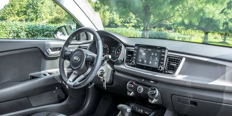 The Rio offers a comfortable and well proportioned interior with intuitive controls and a choice of 5.0-inch and 7.0-inch infotainment screens.