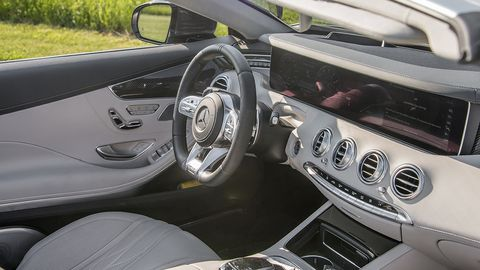 The S63 offers a plush interior with many high-tech features.