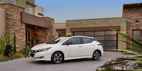 The 2018 Leaf features a 150-mile driving range, aerodynamic exterior, high-tech interior and advanced technologies including ProPilot Assist and e-Pedal.