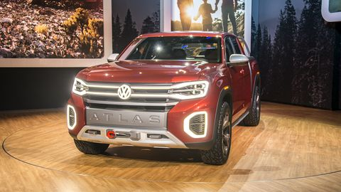 VW took the wraps off the Tanoak concept at the 2018 New York auto show, demonstrating the possibilities of the Atlas family.