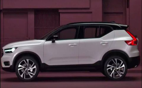 The exterior design of the 2018 Volvo XC40 leaked ahead of its official debut on September 21, showing the upcoming compact SUV.
