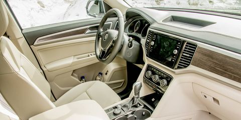 The Atlas offers three rows of seats, with a very accessible third row.
