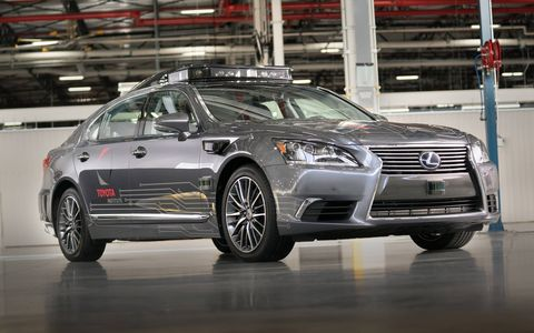 Toyota will show the latest version of its automated-car research vehicle at CES. The new platform is built on a Lexus LS 600hL.