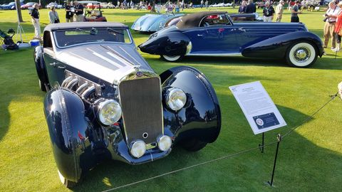 One of several beautiful streamliners from the Sam and Emily Mann collection. The couple was honored as the Concours' collectors of the year.