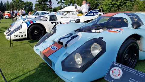 Up close with a battle-scarred Porsche 917.