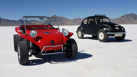 If you're going to try to break a class speed record with your new 2019 sedan, why not bring a couple of examples of your company's proud heritage to the Salt Flats? That's what Volkswagen did here.