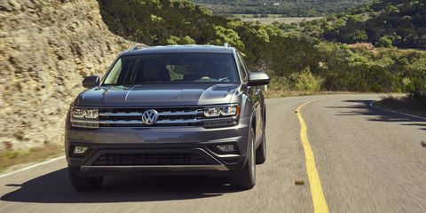 The 2018 Volkswagen Atlas has a 3.6-liter engine producing 276 hp and 266 lb-ft of torque