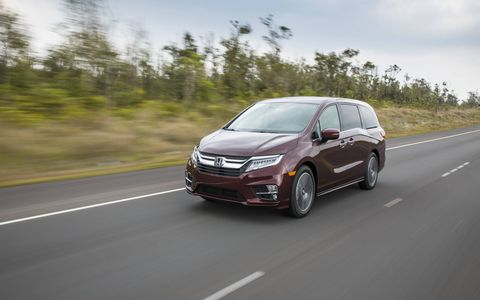 The new 2018 Honda Odyssey fixes some of its predecessor's stylistic foibles, such as eliminating the visible track for the rear sliding doors.