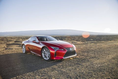 The 2018 Lexus LC500 gets a 5.0-liter V8, 10-speed automatic transmission and 471 hp.