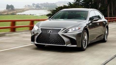 The 2018 Lexux LS500 gets a twin-turbocharged 3.5-liter V6 making 416 hp.