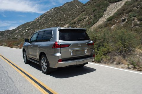 The 2018 Lexus LX570 in action