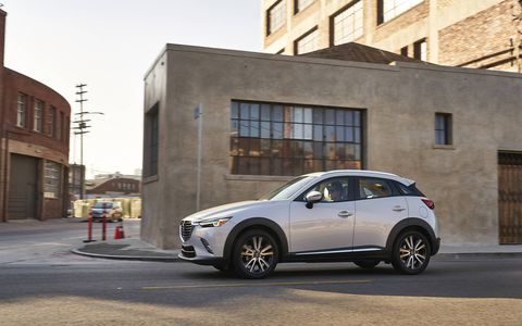 All versions of the 2018 Mazda CX-3 have a 2.0-liter four-cylinder engine making 146 hp and 146 lb-ft of torque with a six-speed automatic transmission.