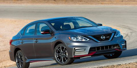 The 2017 Nissan Sentra Nismo gets a new 1.6-liter Direct Injection Gasoline turbocharged engine, which is shared with the new-for-2017 Sentra SR Turbo model. It's rated at 188 hp at 5,600 RPM and 177 lb-ft of torque at 1,600 - 5,200 RPM.