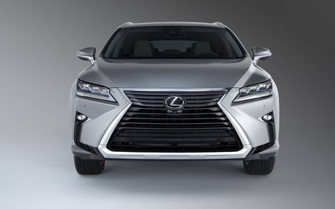 The 2018 Lexus RX 350L debuted at the Los Angeles Auto Show with a longer body and a third row of seats.