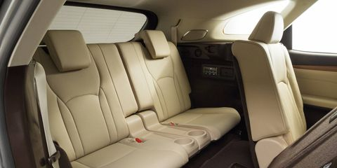 The Lexus RX 350L's interior looks like a comfortable place to stay.