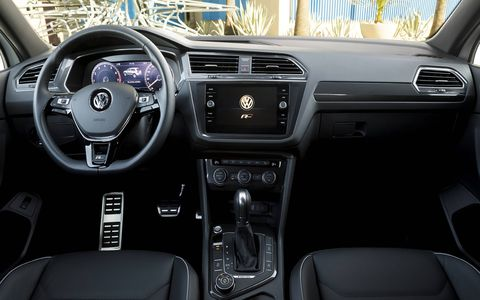 The R-Line trim adds unique exterior and interior elements to the SEL trim levels of the redesigned midsize crossover.