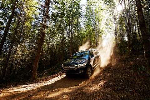 The 2018 Toyota Land Cruiser is only available with a 381-hp, 5.7-liter V8.