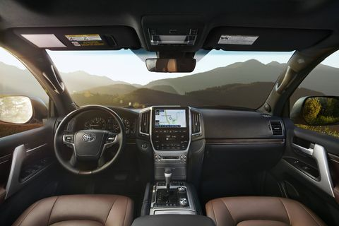The 2018 Toyota Land Cruiser comes standard with four-zone automatic climate control with air filter, dust and pollen filtration mode, a separate second-row control panel, individual temperature settings for driver, front passenger and rear-seat passengers, and second- and third-row vents.