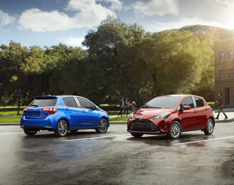 The 2018 Toyota Yaris comes with a 1.5-liter four making 106 hp and 103 lb-ft of torque.