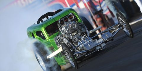 The 2018 California Hot Rod Reunion takes place in late October in Bakersfield and brings all sorts of hot rods and drag racers. Not all are there to compete, some just look pretty in the paddock.