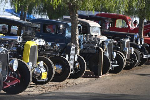The California Hot Rod Reunion is more than just a nostalgia drag meet -- it also draws hot rods from all around the country to bask in the golden age of drag racing.