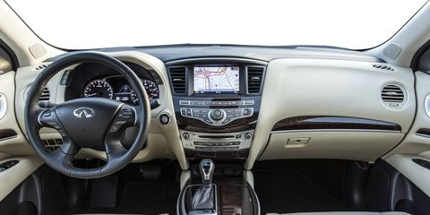 The 2018 Infiniti QX60 is offered in front- and all-wheel drive and with leather, graphite weave or wood accents.