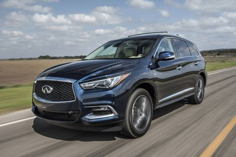 The 2018 Infiniti QX60 comes with a 3.5-liter V6 making 295 hp and a continuously variable transmission.