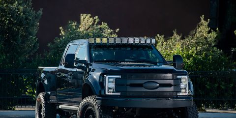 Ford won Best Truck of SEMA with its selection of light-duty, but heavily customized pickups.