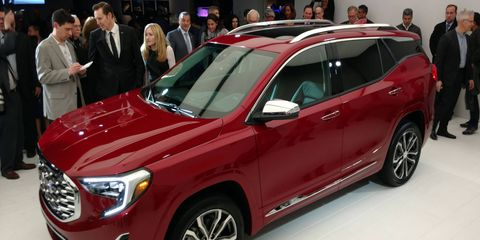 GMC unveiled the all-new 2018 Terrain Denali ahead of the 2017 Detroit auto show. Smaller and lighter than the outgoing model, the new Terrain gets the choice of two turbocharged gasoline engines or a 1.6-liter turbodiesel.