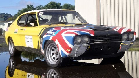 The Casual Racing Society's one-of-248 1973 Ford Capri RS3100 -- a rare homologation special that had been transformed into a budget endurance racer by an unknowing prior Lemons team.