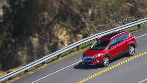 The 2019 Ford Escape offers three engines, the most powerful of which makes 245 hp and 275 lb-ft of torque.