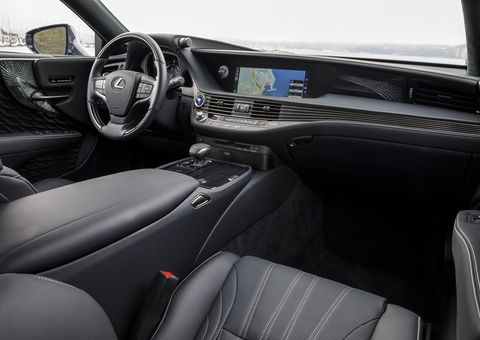 The interior is the high point of the 2019 Lexus LS 500h.