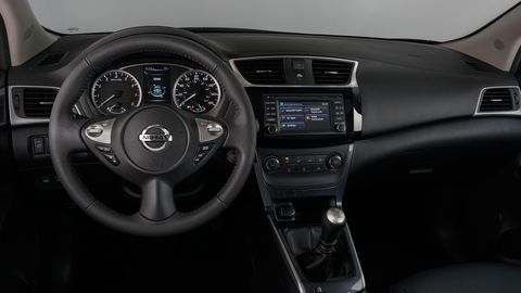The 2019 Nissan Sentra SV comes with push-button ignition and dual-zone automatic climate control; the base S and Nismo offer a manual transmission.