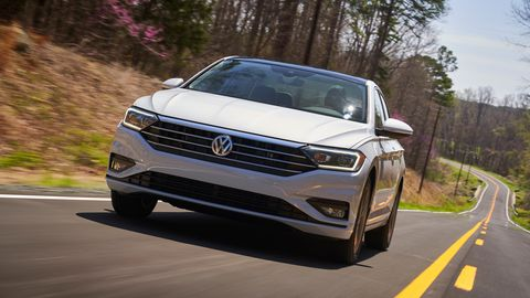 The 2019 Volkswagen Jetta SEL Premium comes with a 147-hp four-cylinder engine.