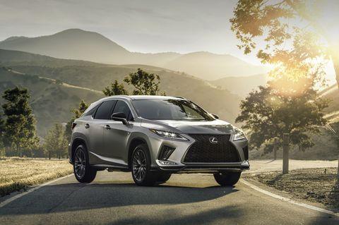 Land vehicle, Vehicle, Car, Automotive design, Mid-size car, Lexus, Sky, Lexus rx hybrid, Sport utility vehicle, Tire,