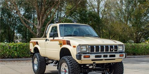 this 1983 toyota sr5 pickup sold for 33000 at the 2019 barrett jackson palm beach auction