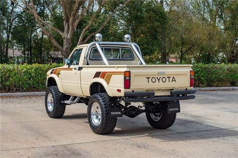 This 1983 Toyota SR5 Pickup sold for $33,000 at the 2019 Barrett-Jackson Palm Beach auction.