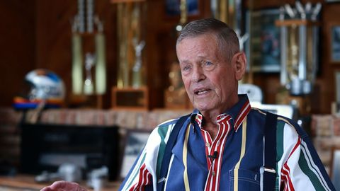 "<span style=""font-size:10.0pt""><span style=""font-family:&quot;Arial&quot;,sans-serif"">In ""Rapid Response,"" three-time Indy 500 winner Bobby Unser recalls the time he drove blindly through a conflagration created by a fatal two-car crash at the Speedway. During the ensuing red flag, Unser smeared motor oil on significant burns to his face and neck, then got back in his car to finish the race.</span></span>"