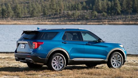 The 2020 Ford Explorer Hybrid gets the same amount of interior space as the standard version because the battery is mounted under the floor.