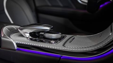 The 2019 Mercedes-AMG C63 S can be ordered with carbon fiber or metallic accents.