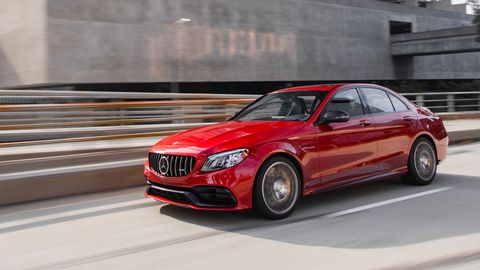 The 2019 Mercedes-AMG C63 S gets a 4.0-liter twin-turbo V8 making 503 hp.