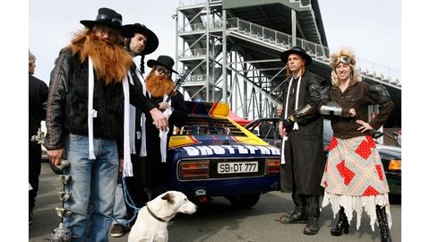 "Casual Racing Society's Ford Capri #3 lived many lives, and wore many liveries, as a cheapo Lemons endurance racer -- including, notably, this unlikely Orthodox Judaism/post-apocalyptic fantasy mashup dubbed ""Max Maxel Tov."""