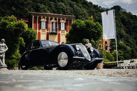 Noted collector David Sydorick claimed both the Coppa d'Oro Villa d'Este and the Trofeo BMW Group Best of Show with this incredible 1937 Alfa Romeo 8C 2900B Berlinetta Coupe.