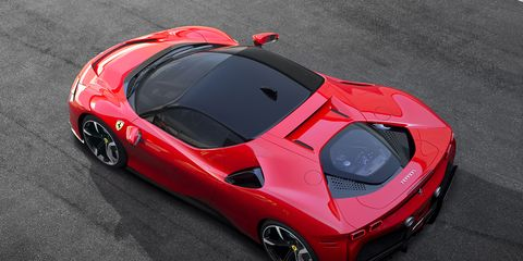 Land vehicle, Vehicle, Car, Supercar, Sports car, Automotive design, Red, Coupé, Race car, Luxury vehicle,