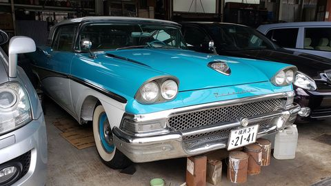 Of all the cars in the world, this is not one that I expected to see in a repair shop in Yokohama, Japan.