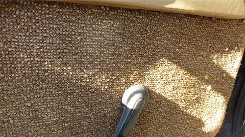 That's some abrasive door-panel fabric. It has held up well for 34 years, though.